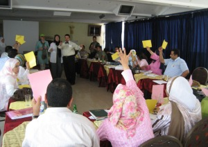 Engaging participants in M&E workshop